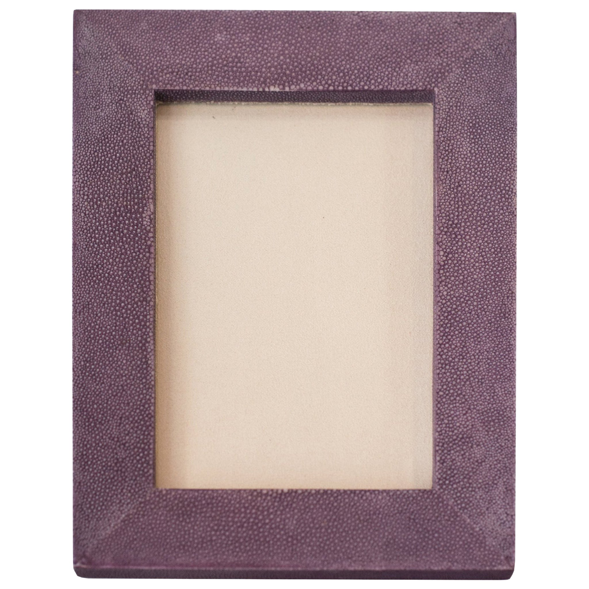 Small Lavender Authentic Shagreen Covered Picture Frame