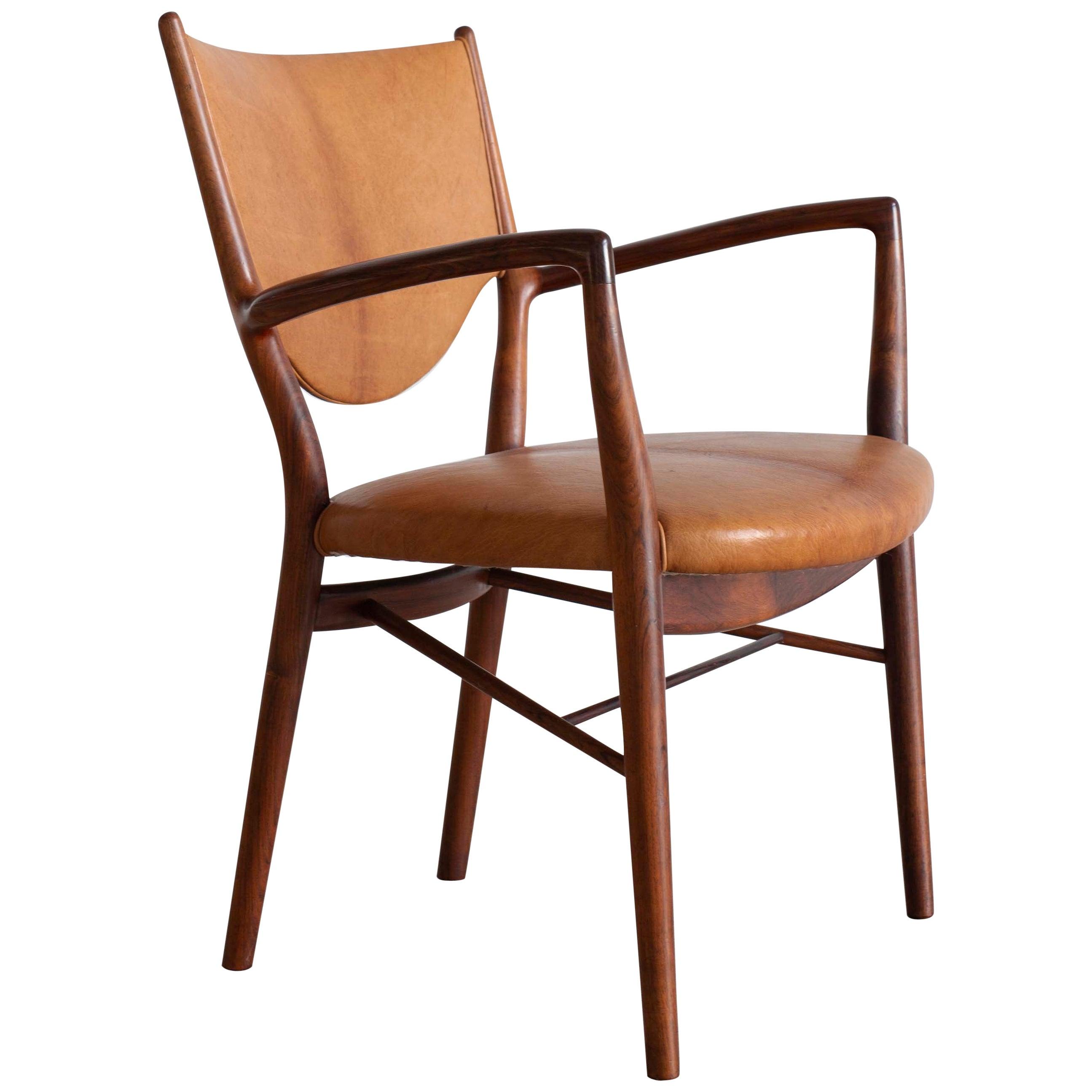 Finn Juhl NV46 Chair in Rosewood for Niels Vodder