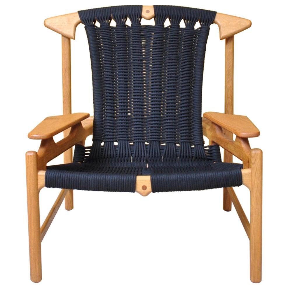 Handcrafted Danish Oak Lounge Chair by Martin Godsk