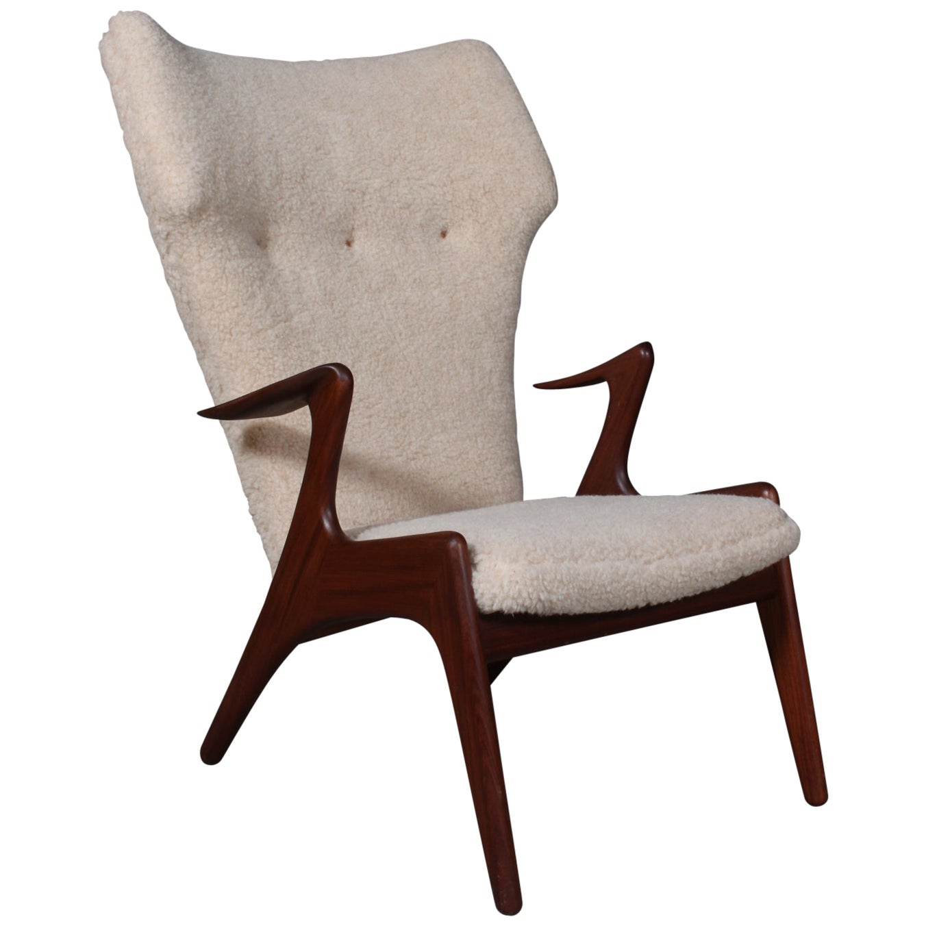 Kurt Østervig Lounge Chair in Sheepskin