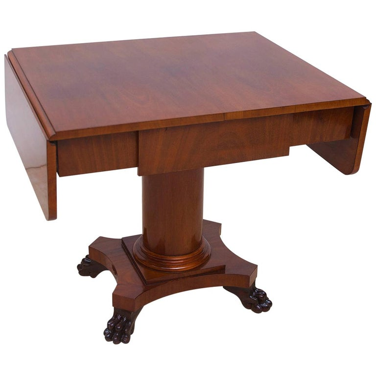 Biedermeier Writing Desk or Sofa Table in Mahogany, Sweden, circa 1840 For Sale
