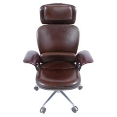 Mid-Century Executive Leather Office Chair