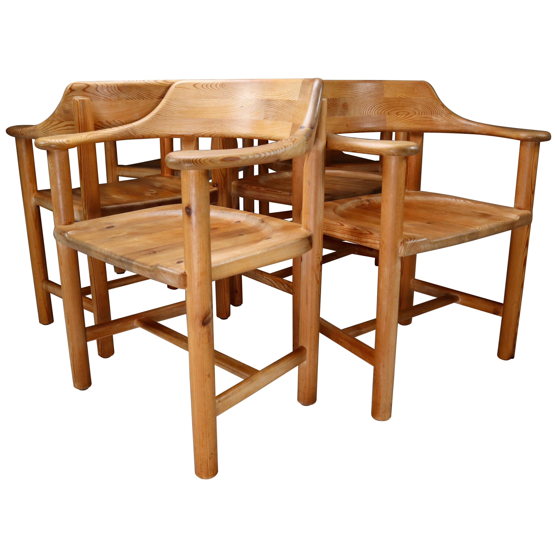 Rainer Daumiller Set of Six Pine Dining Chairs for Hirtshals Savvaerk 1970s