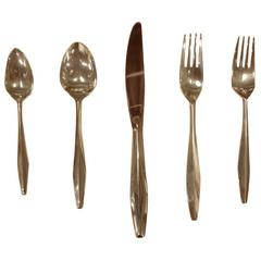 "Set of Gio Ponti Reed & Barton ""Diamond"" Sterling Silverware"
