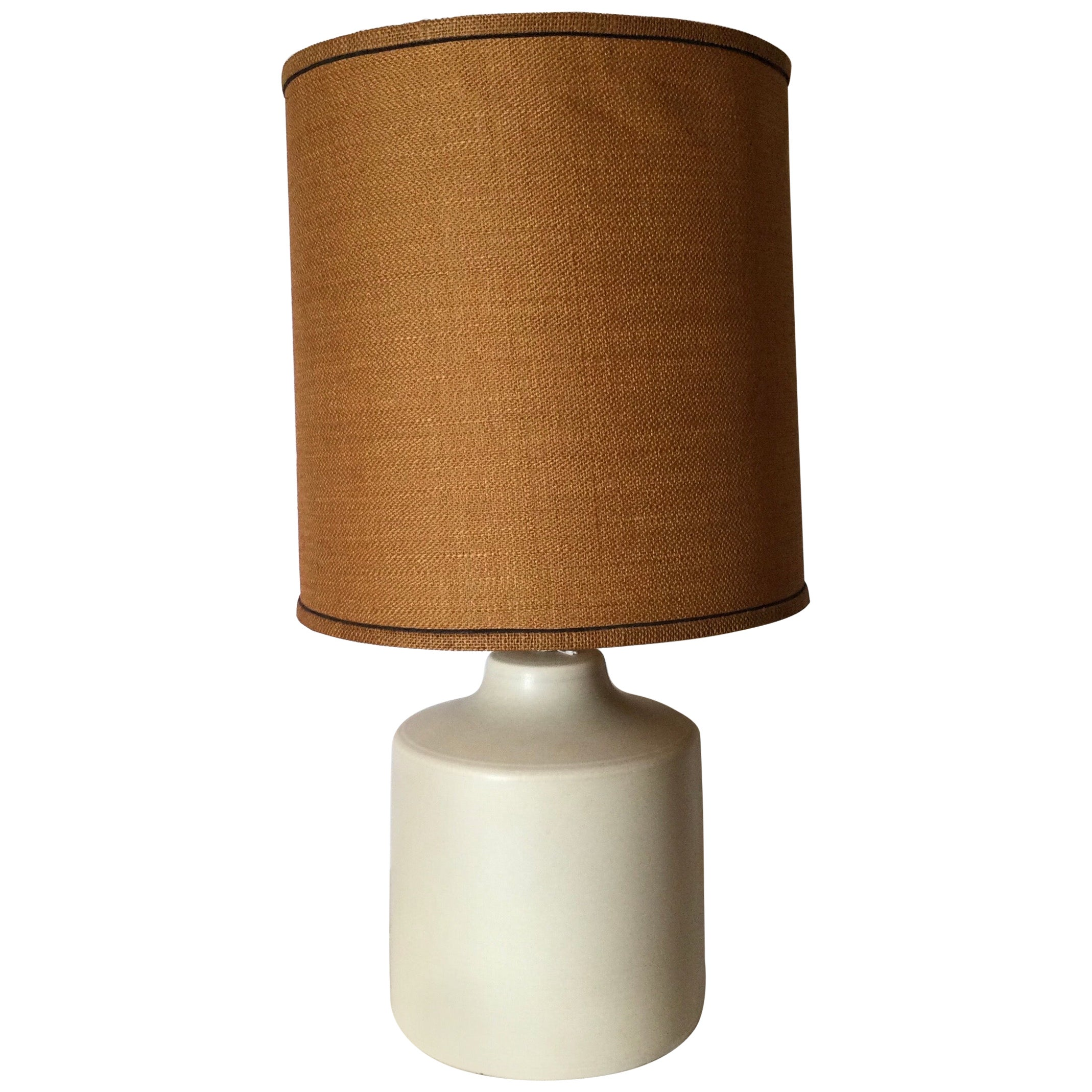 Midcentury White Ceramic Lotte and Gunnar Bostlund Lamp