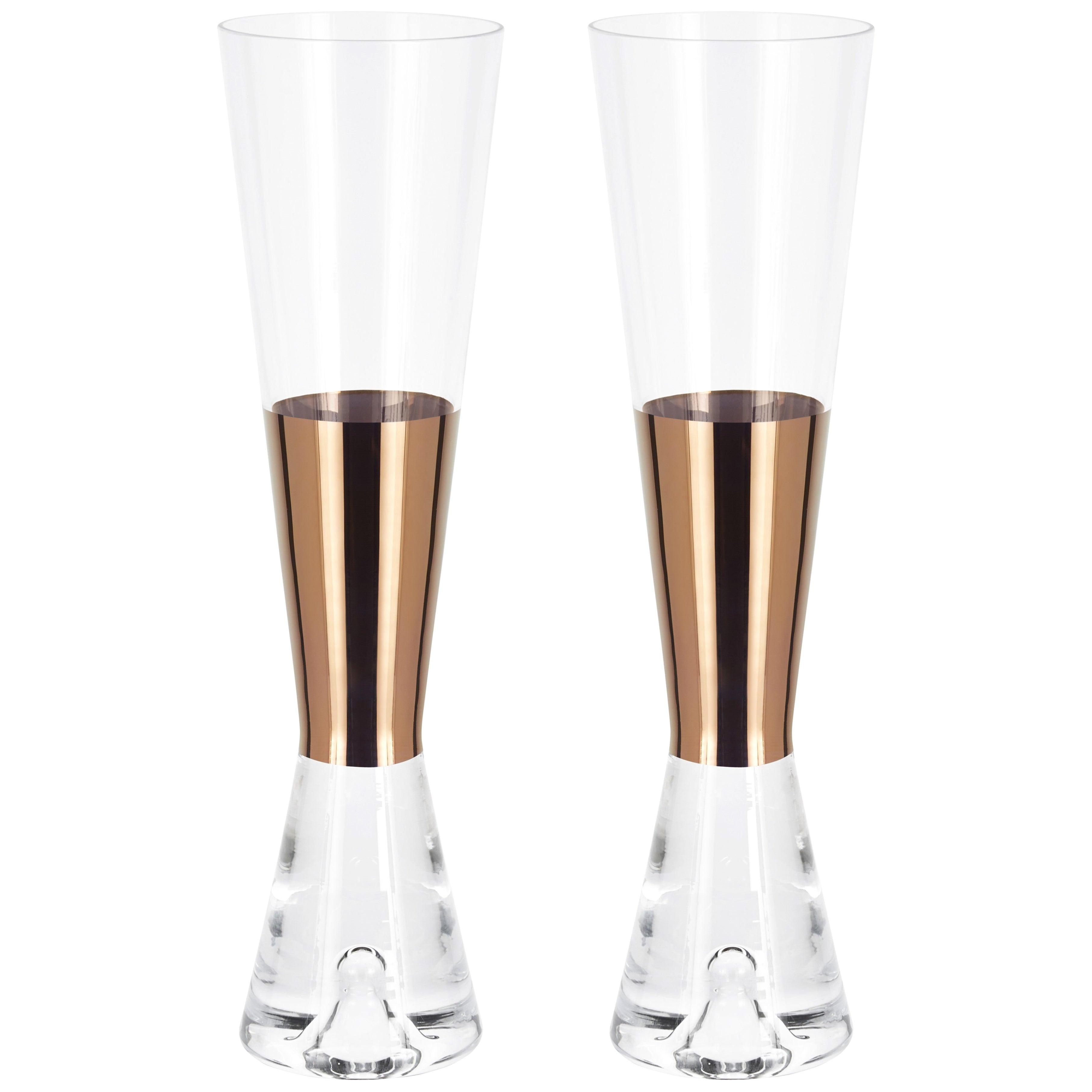 Tom Dixon Champagne Glasses Copper, Set of 6