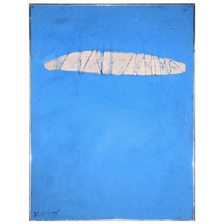 """Skywriting"" Acrylic Painting by Adja Yunkers, 1978"