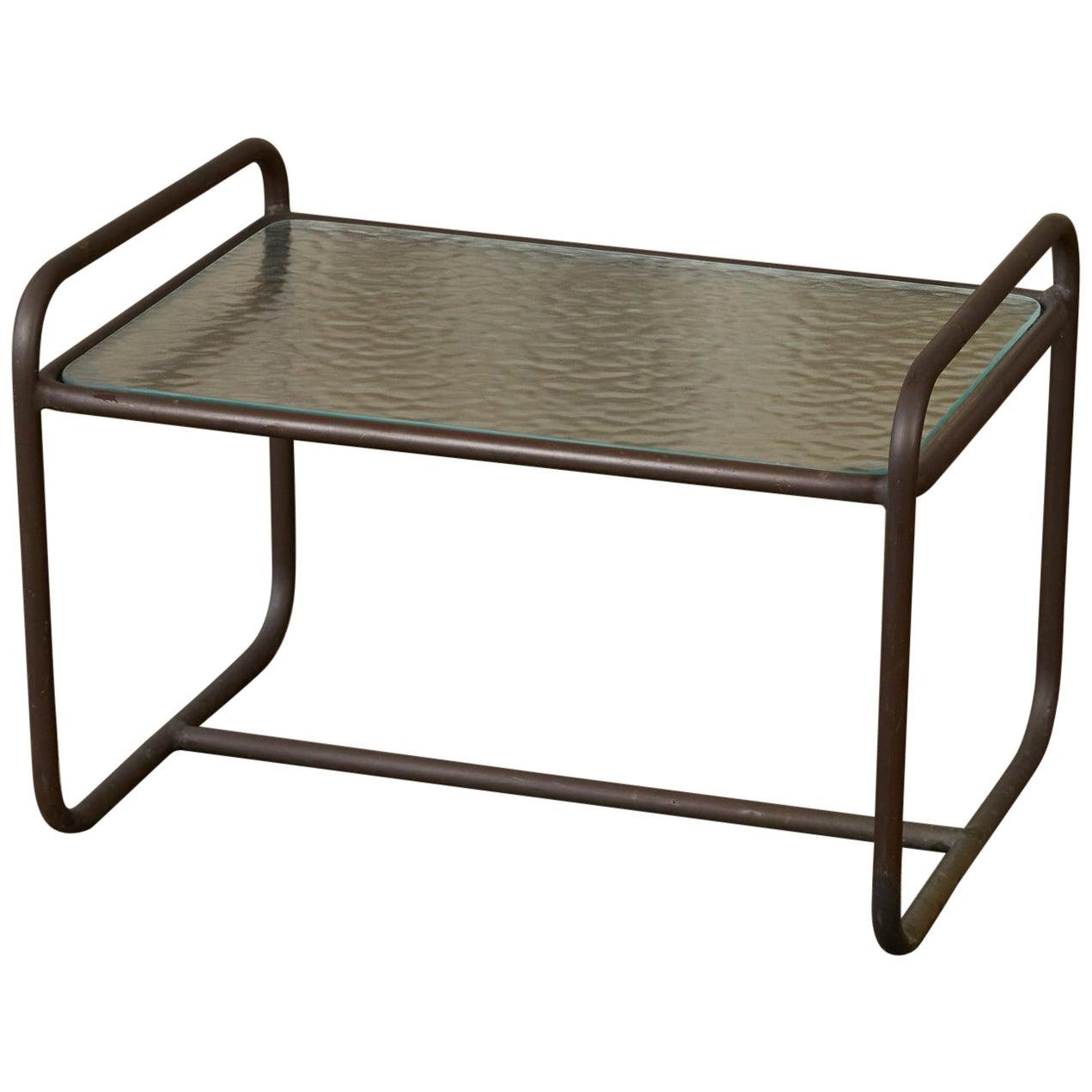 Walter Lamb for Brown Jordan Bronze Patio Side Table