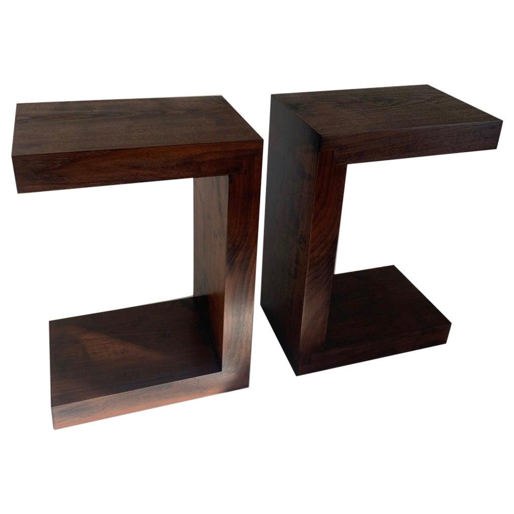 Contemporary Minimalist Walnut Side Table or Bench by Scott Gordon