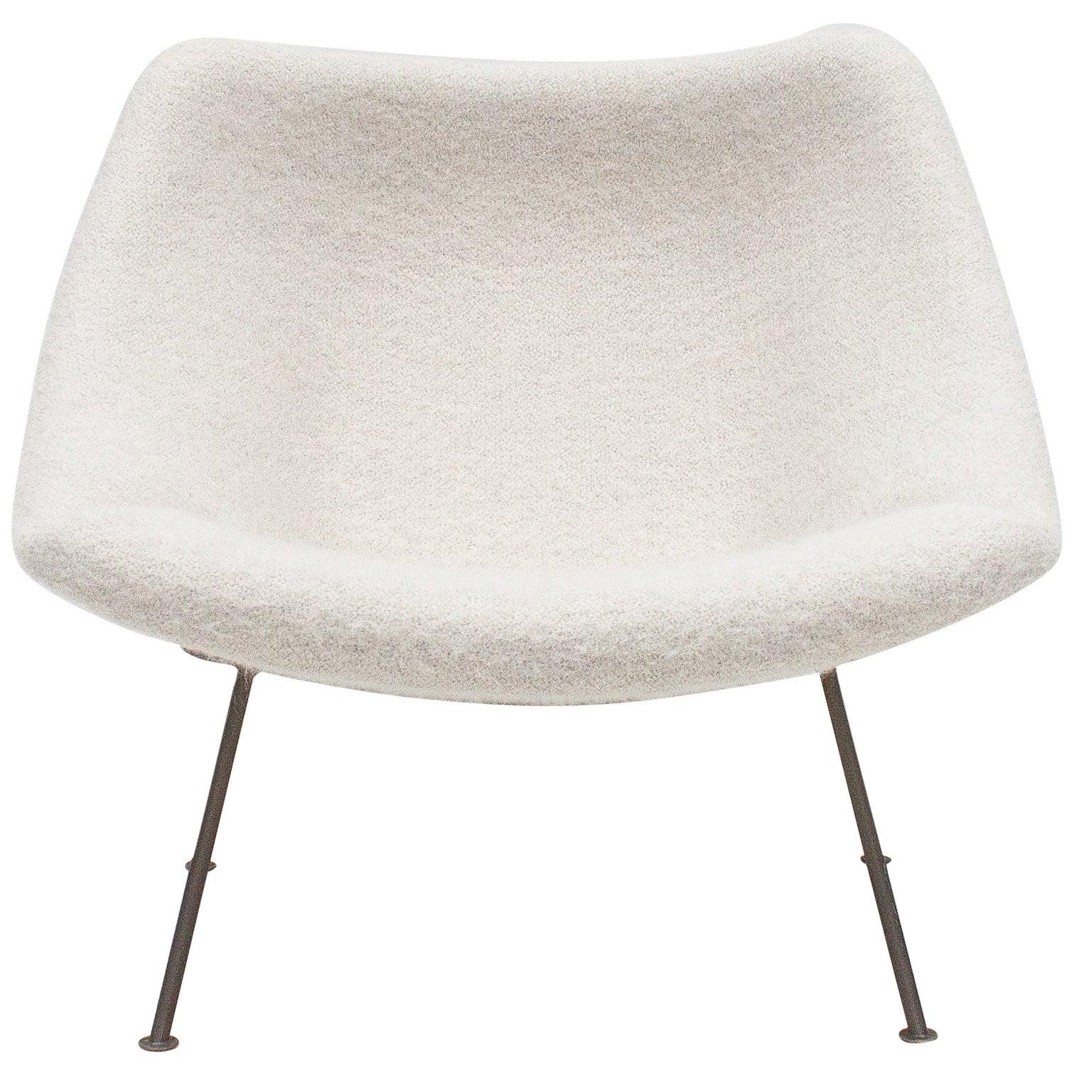 1st Edition Pierre Paulin F156 'Little Oyster' Lounge Chair in Pierre Frey 1960s