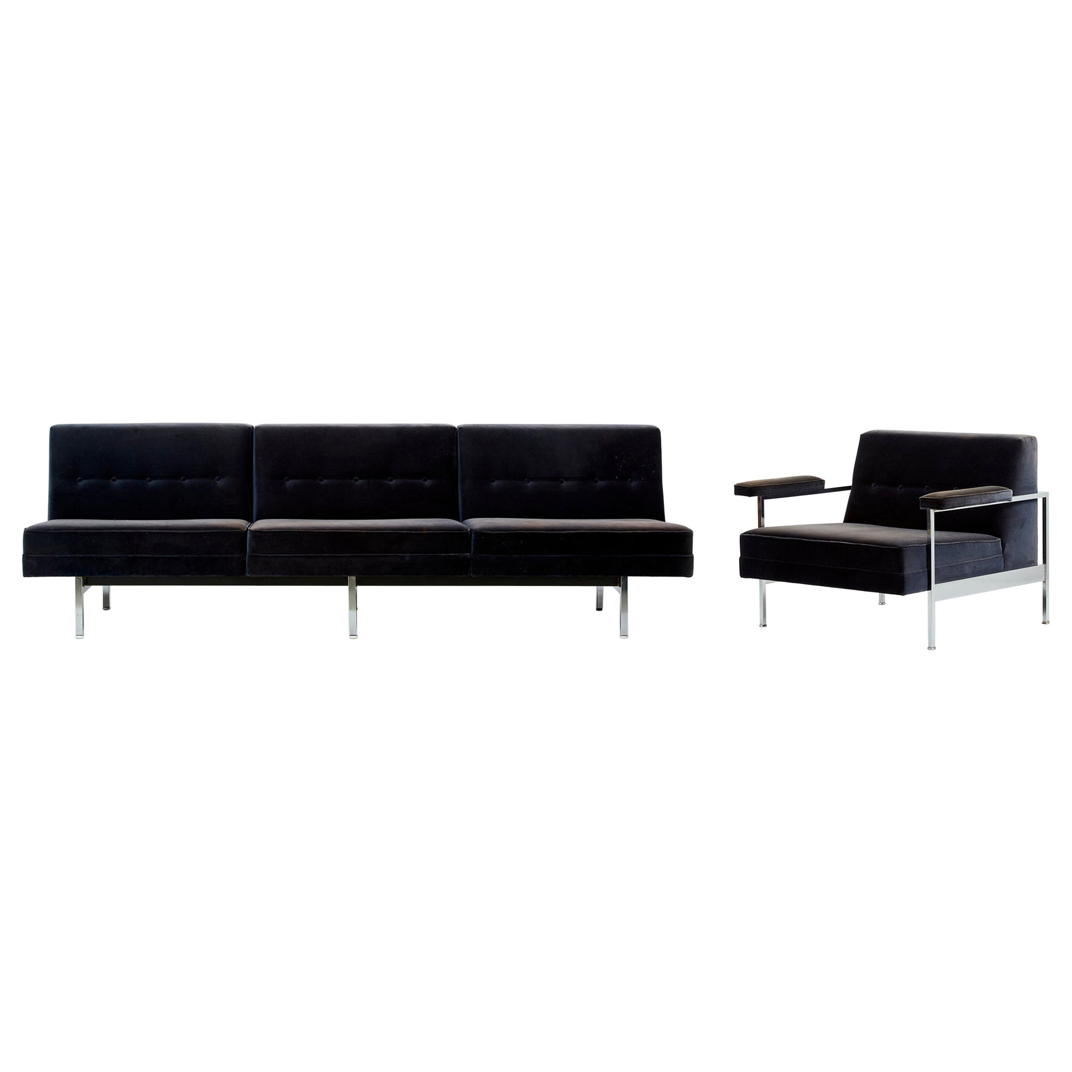 George Nelson Modular Sectional Sofa and Chair by Herman Miller, USA, 1960s