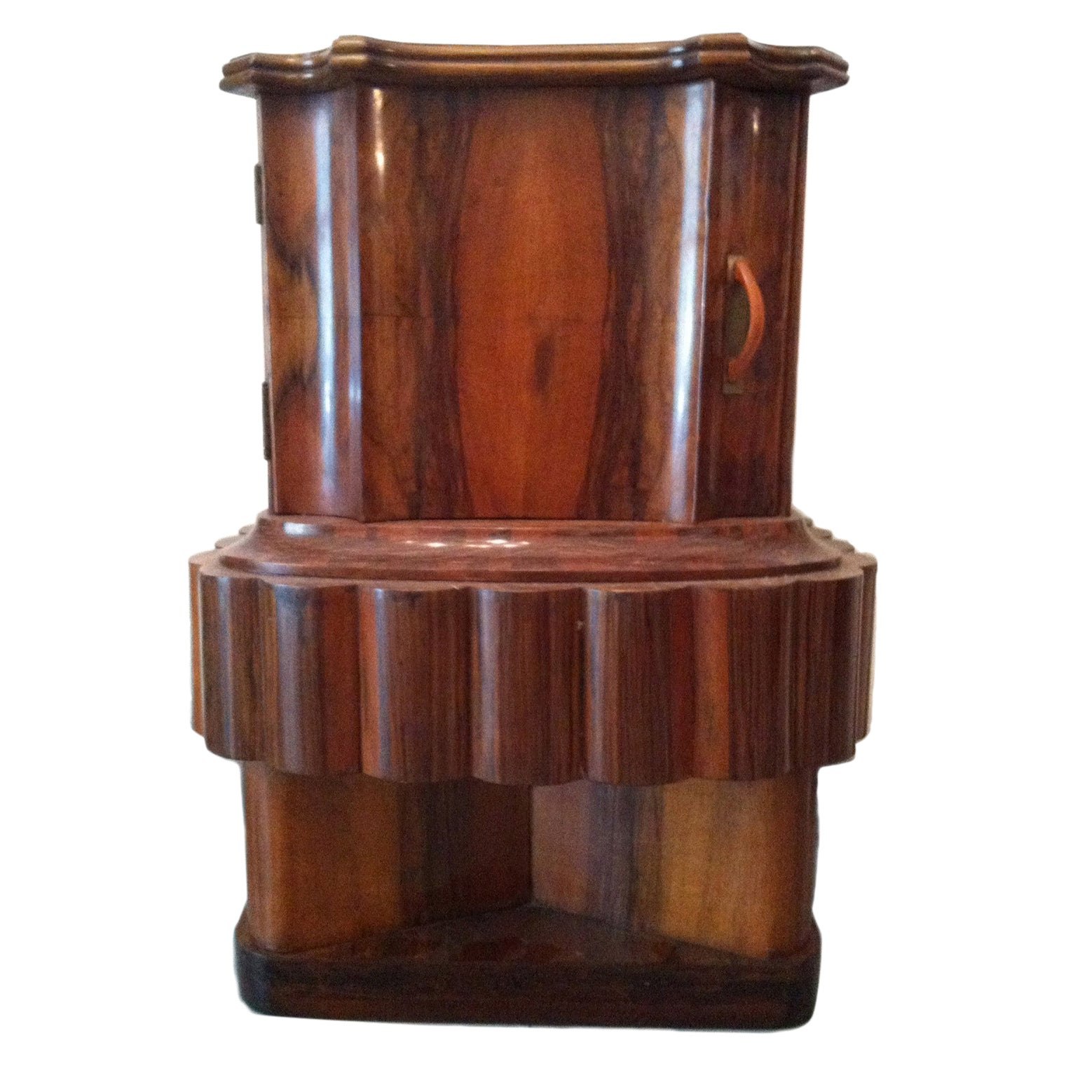 Wood Art Deco Italian Bedside Table, 1920