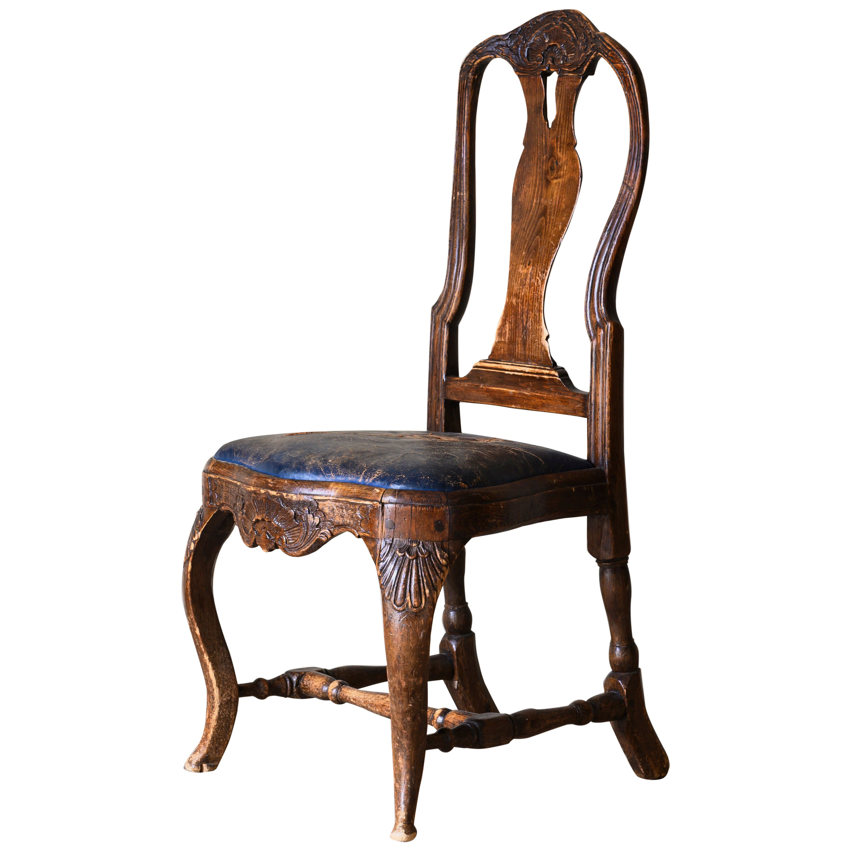 18th Century Swedish Rococo Side Chair