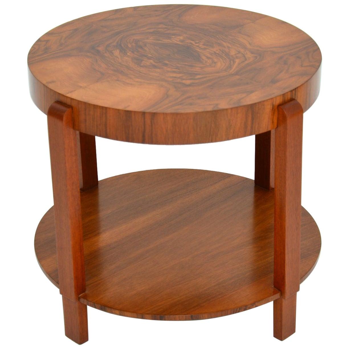 1920s Art Deco Period Walnut Coffee Table