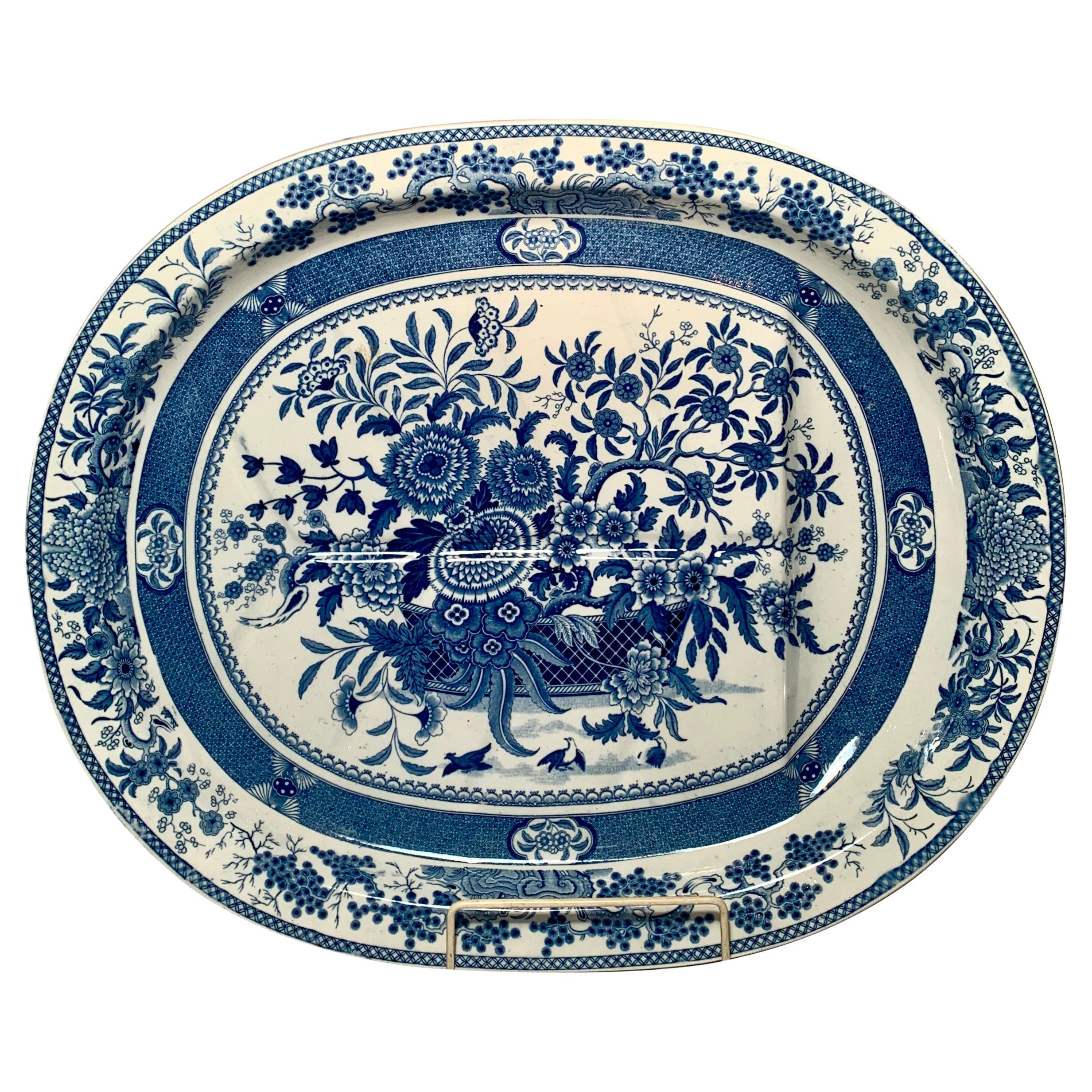 Antique English Spode Meat Tray with Well, circa 1860