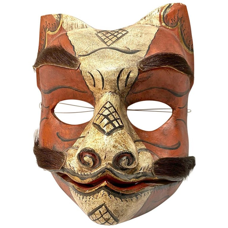 Japanese Fox Mask, Early 20th Century For Sale