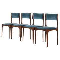Set of 4 Giuseppe Gibelli Elisabetta Chairs, Sormani, Italy, 1963