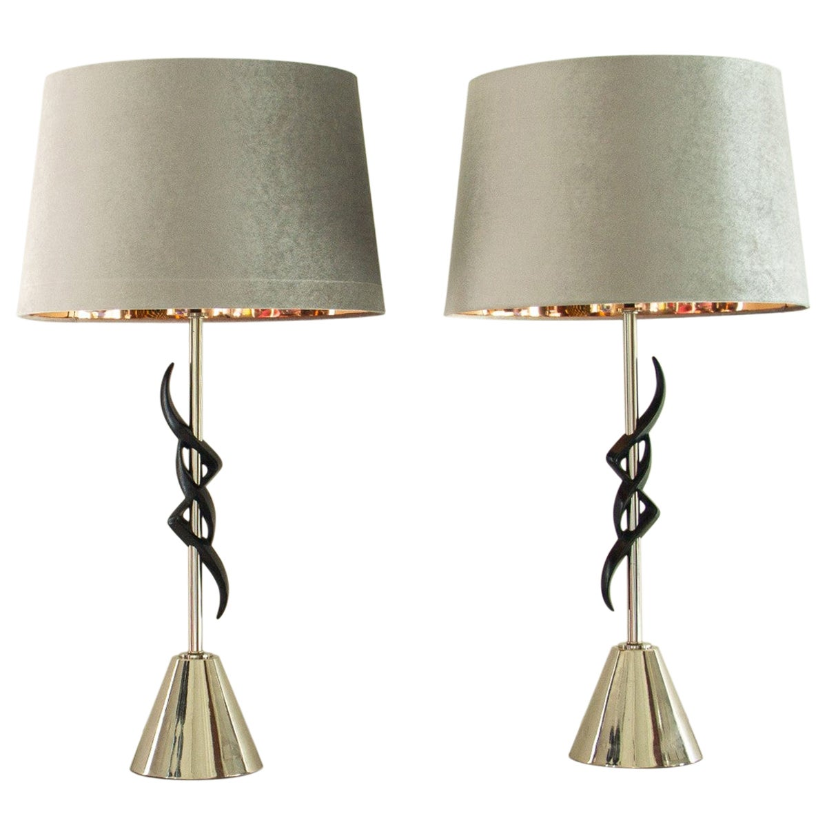 Pair of Rembrandt Designed Lamps, 1950s