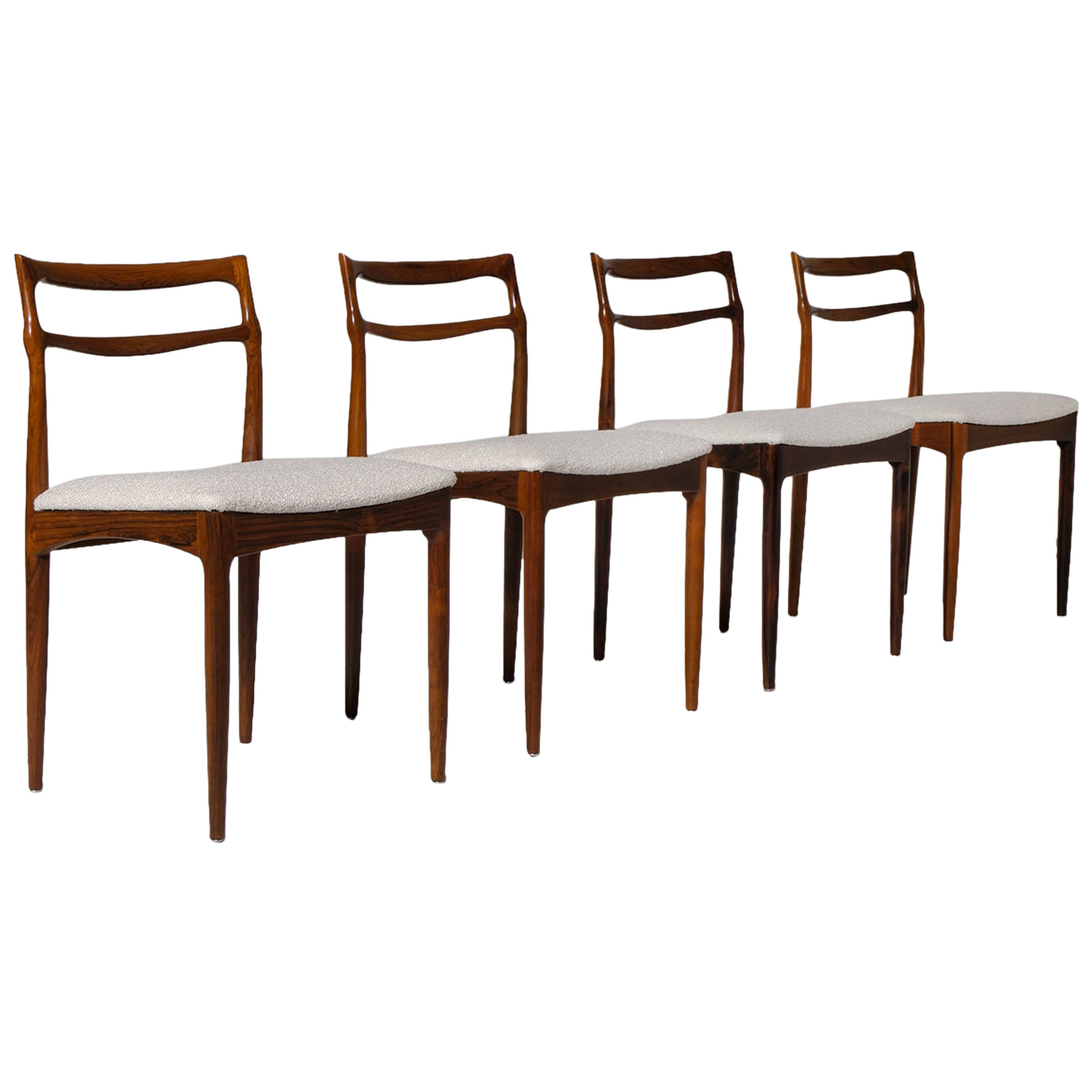 Johannes Andersen Rosewood Dining Chairs, Set of Four