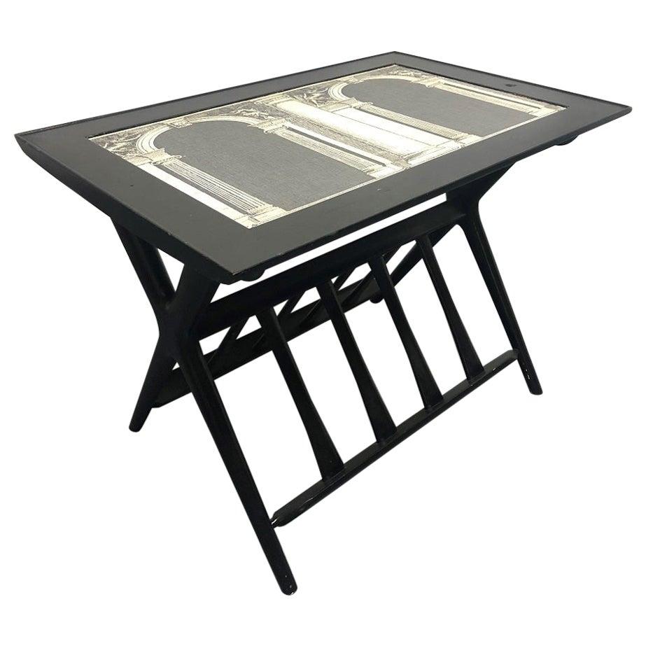 Italian Side Table / Magazine Holder