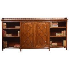 Large Mahogany Breakfront Bookcase
