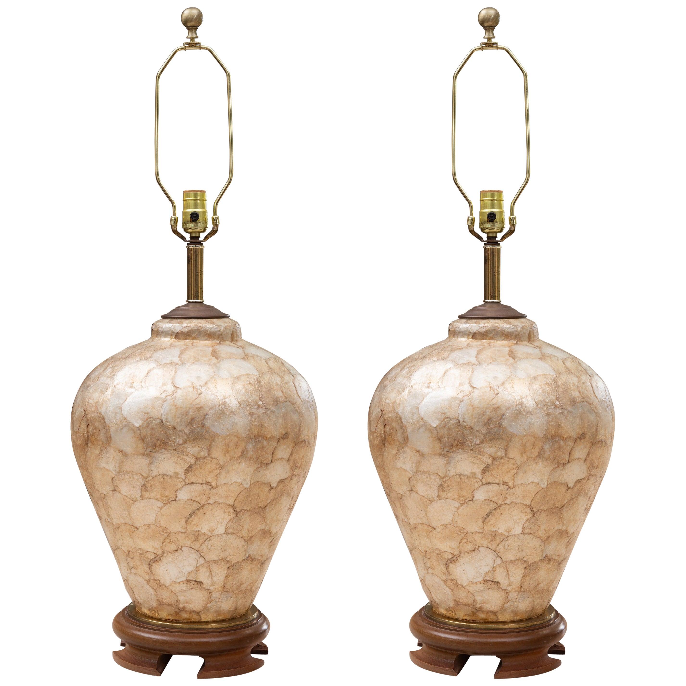 Capiz Shell Veneered Lamps