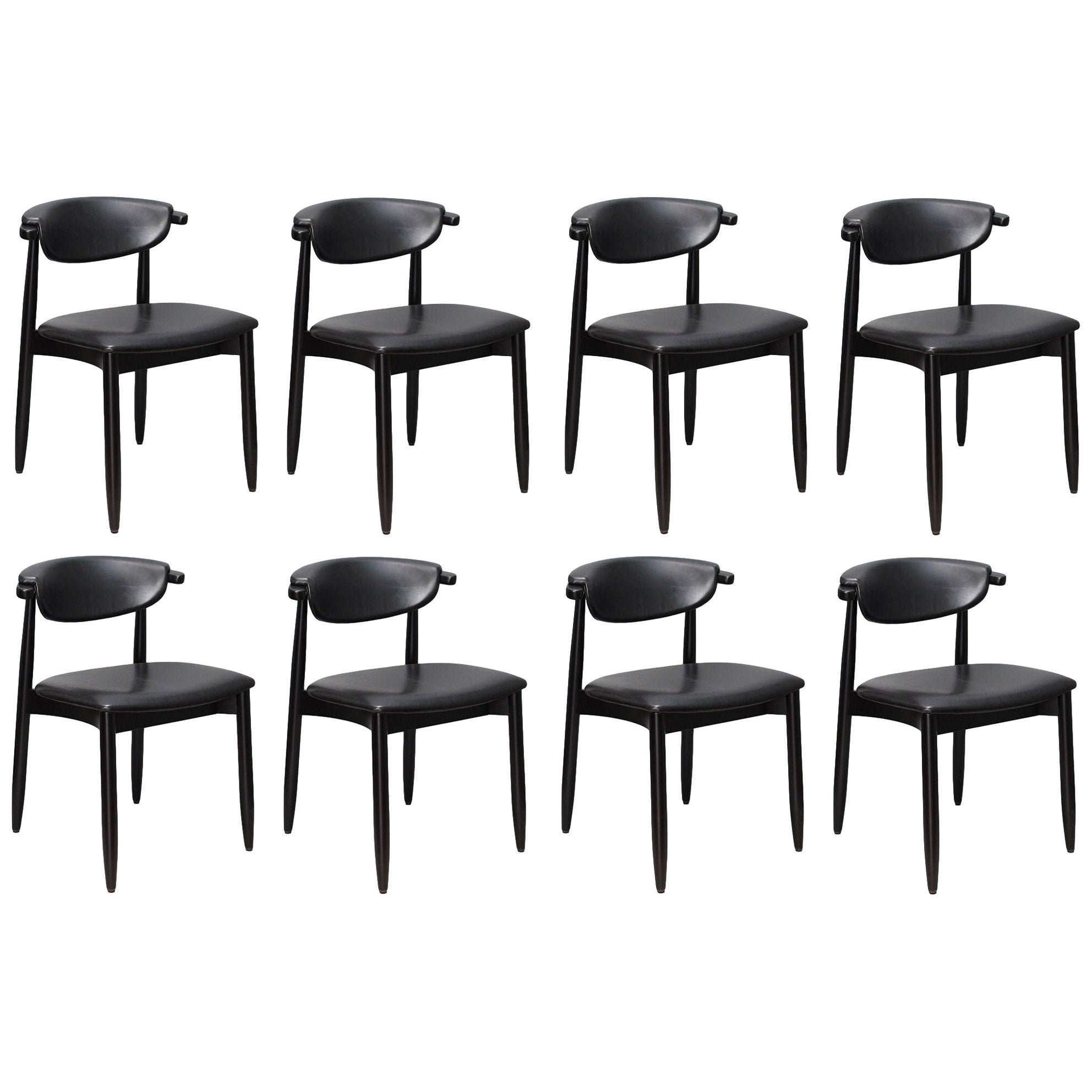 Mid-Century Modern Dining Chairs, Set of 8