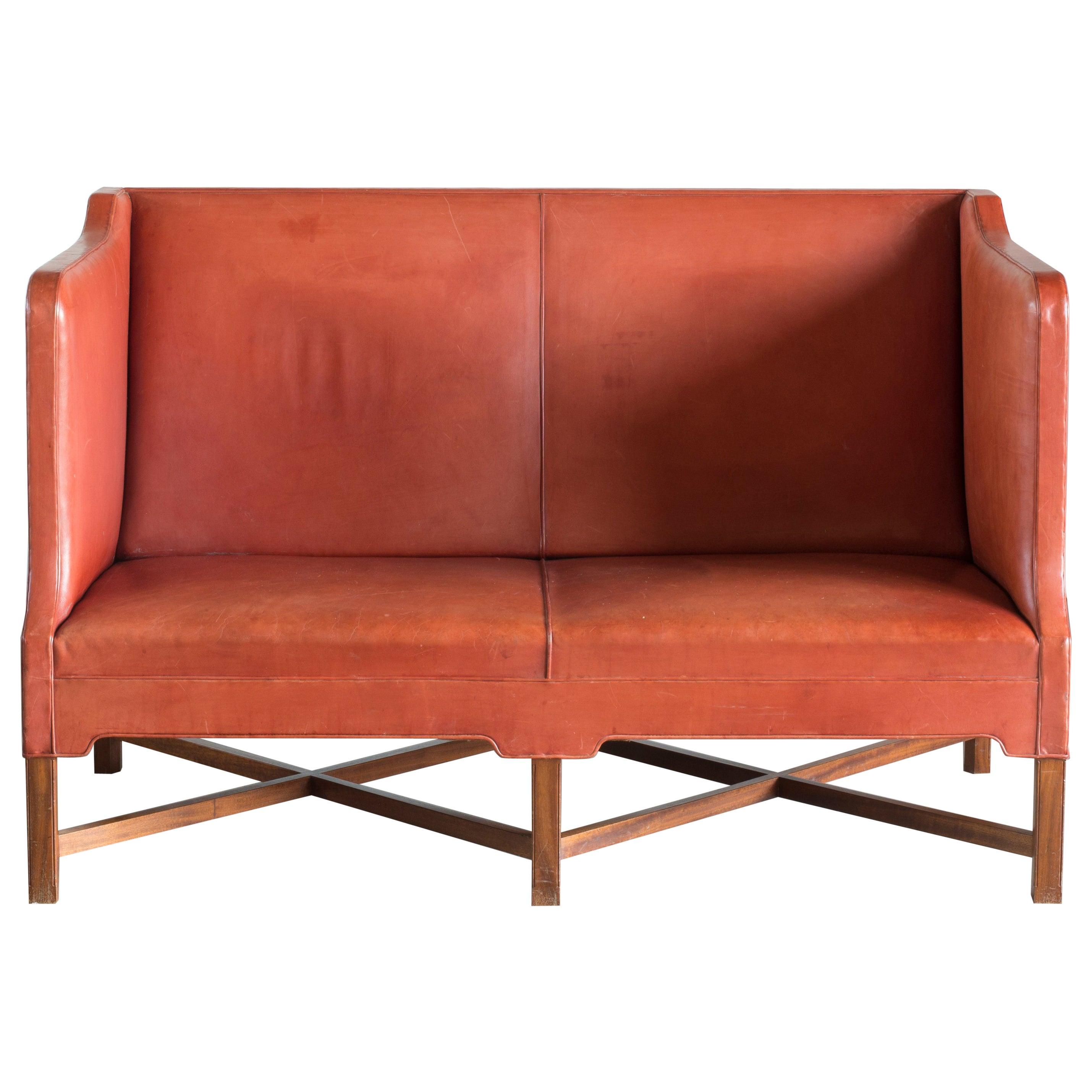 Kaare Klint Two-Seat Sofa for Rud. Rasmussen