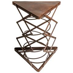 Triangular Metal Side Table