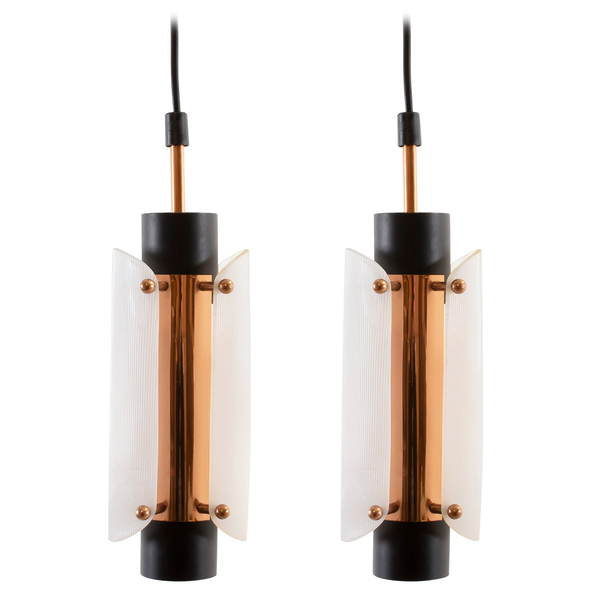 Pair of Midcentury Ceiling Pendants, Norway, 1960s