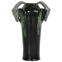 1920s Art Nouveau Ceramics Vase by Michael Andersen & Son, Denmark