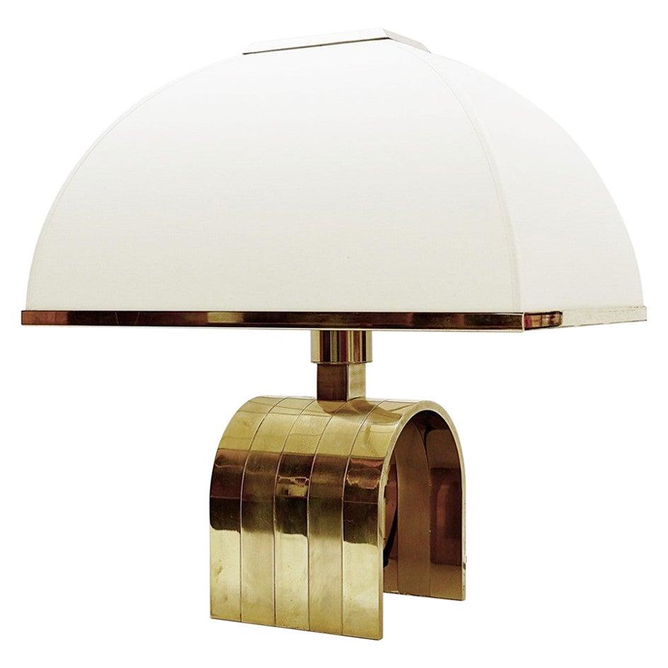 Romeo Rega Brass Table Lamp, Italy, 1960s