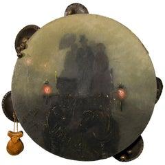 Ancient Neapolitan Tambourine, Italy, 19th Century