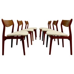 Danish Modern Dining Chairs by Erik Buch