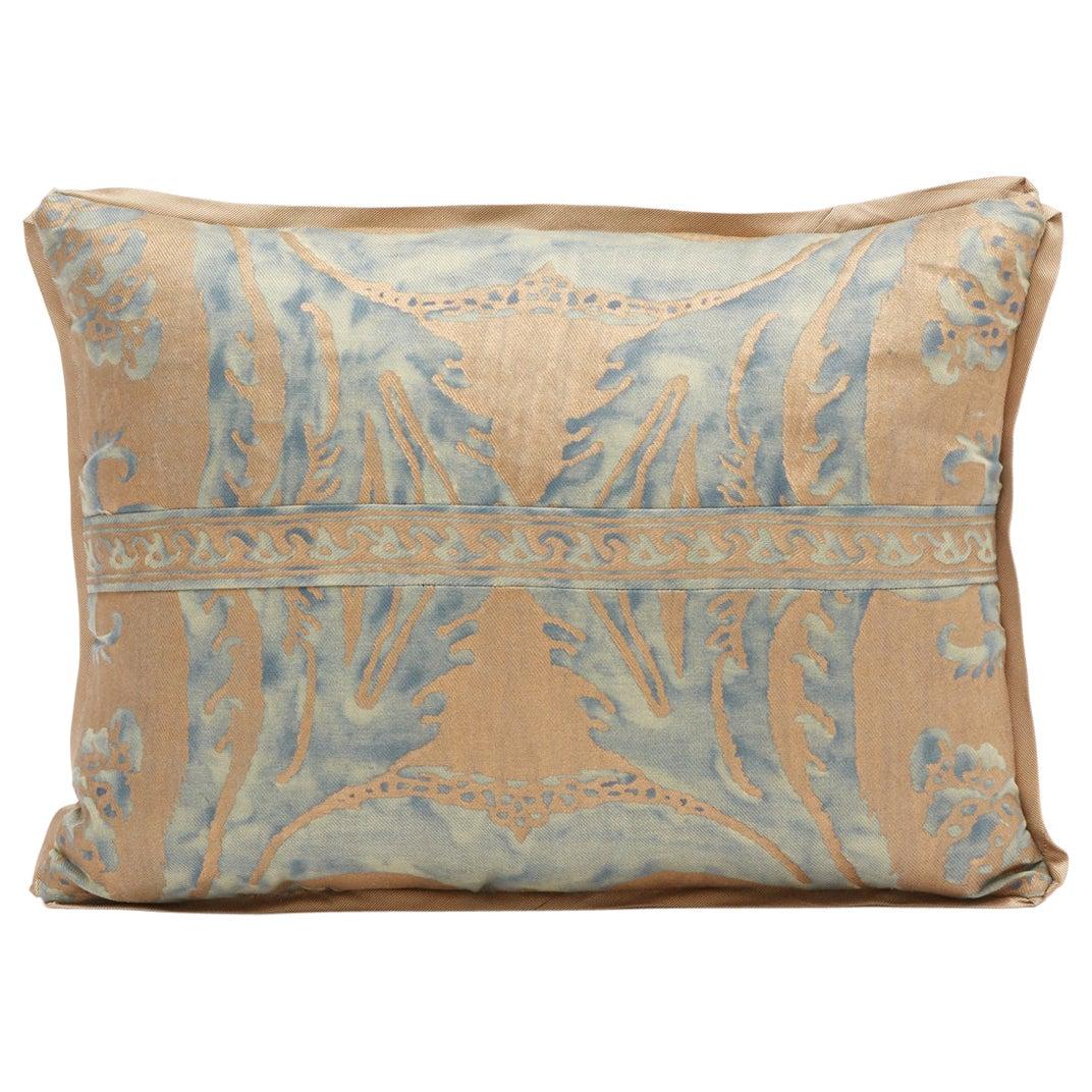 Rectangular Fortuny Fabric Cushion in the Glicine Pattern