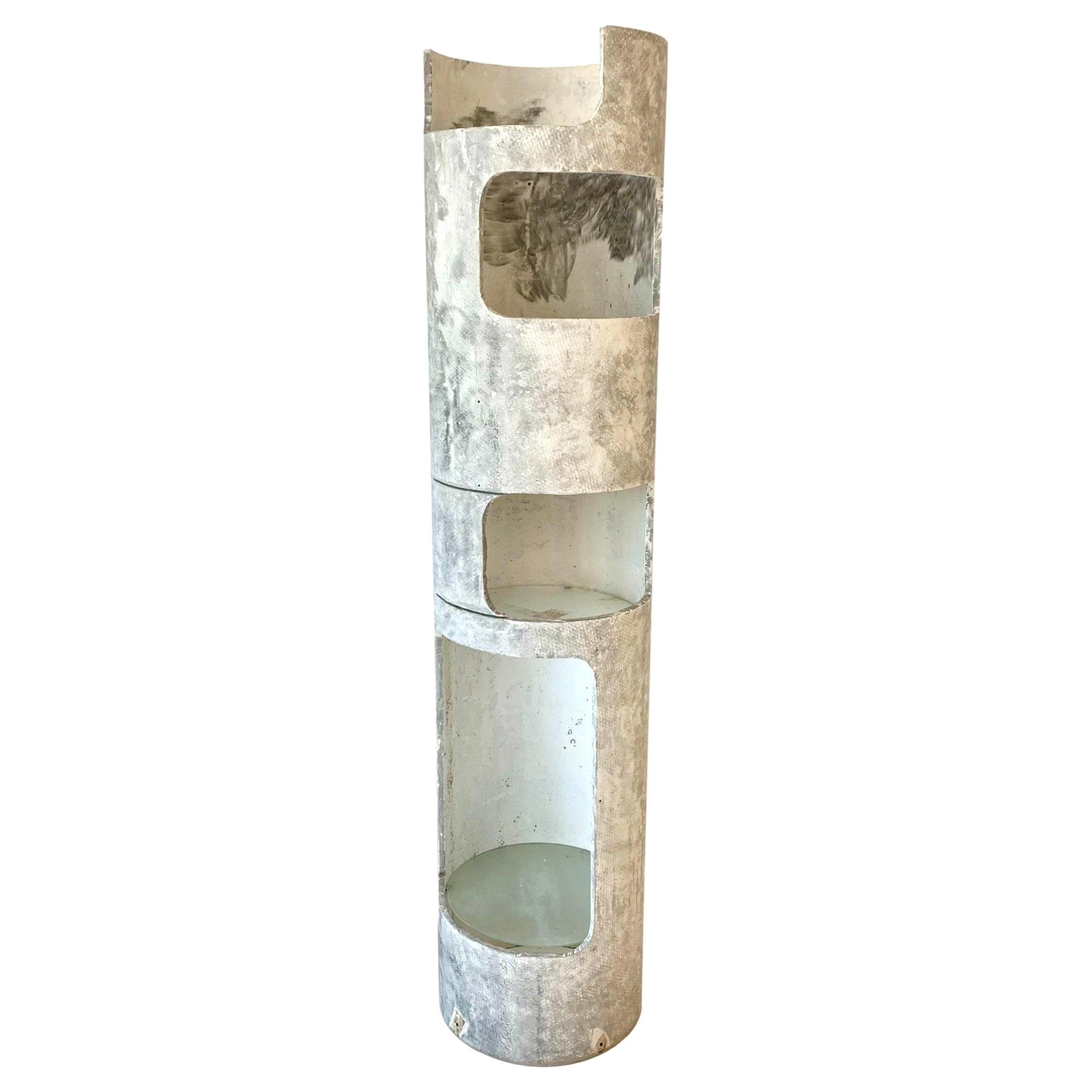 Willy Guhl Concrete Tower Bookshelf