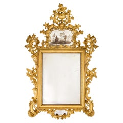 Italian 18th Century Giltwood Venetian Mirror