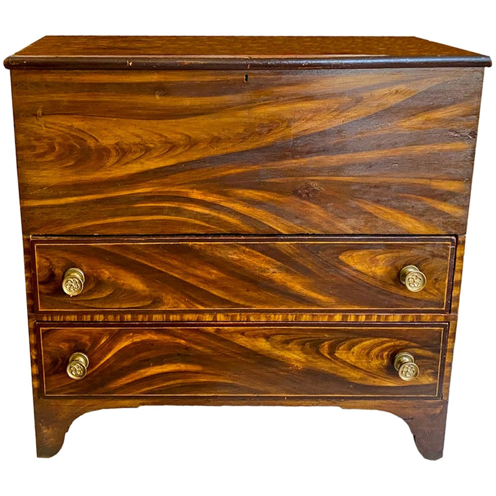 New England Painted Blanket Chest