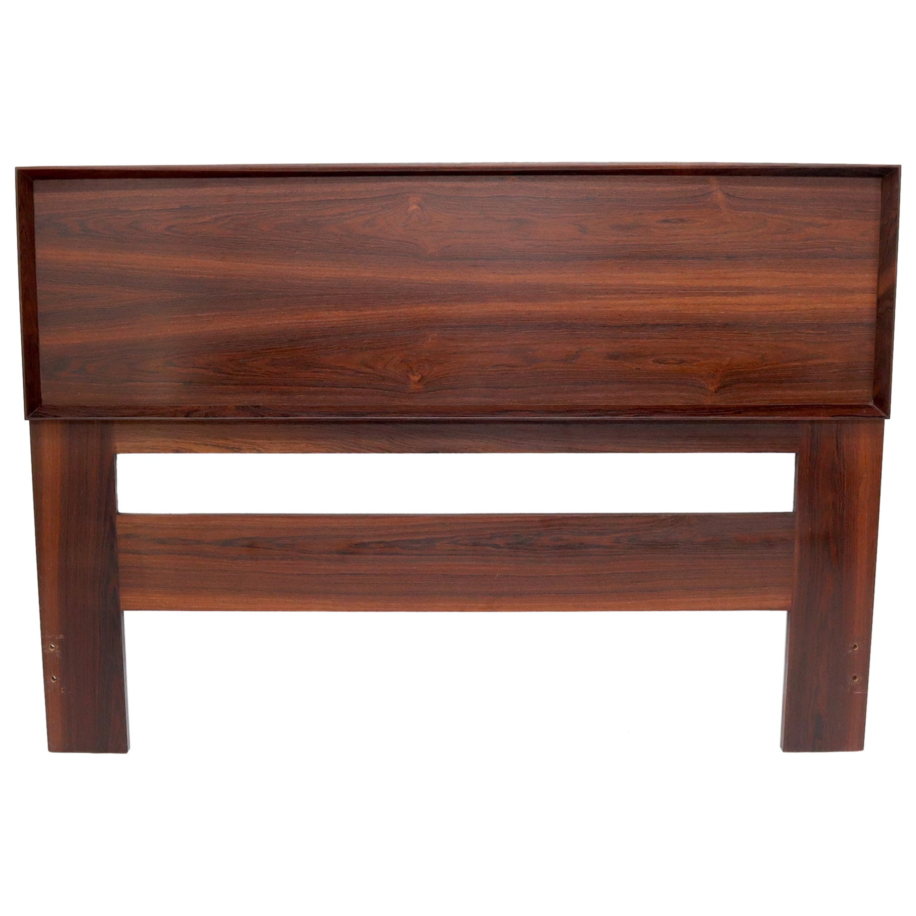 Reversible Cane to Rosewood Queen Size Headboard Bed