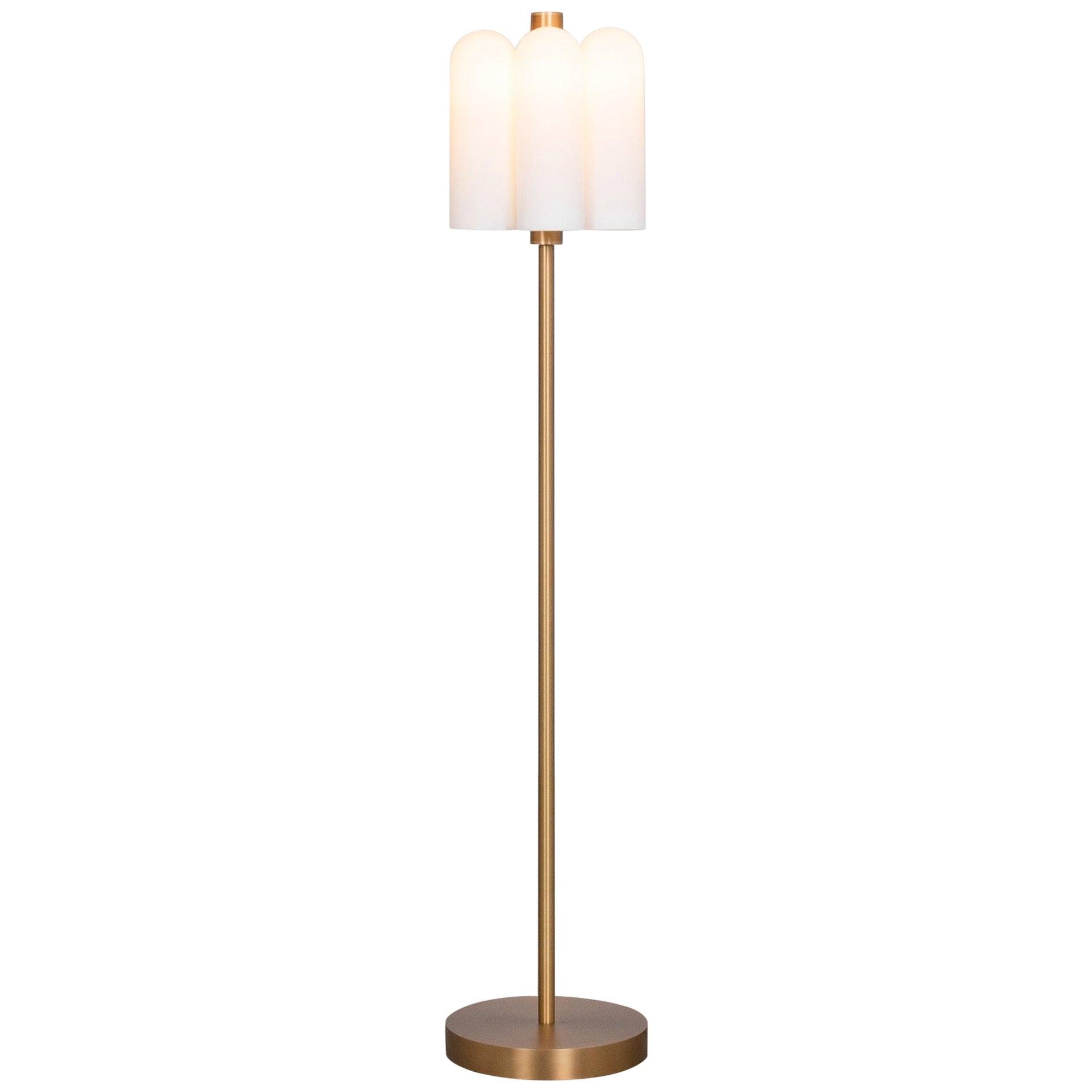 Brass Floor Lamp by Schwung
