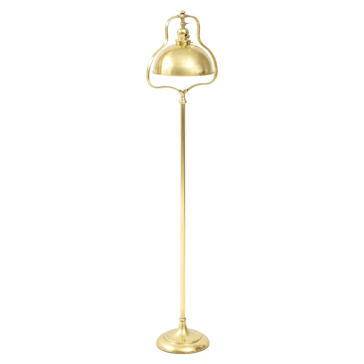 1940s French Brass Floor Lamp