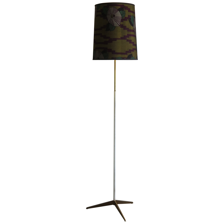 Stilnovo Midcentury Italian Floor Lamp with Brass Base, 1950s
