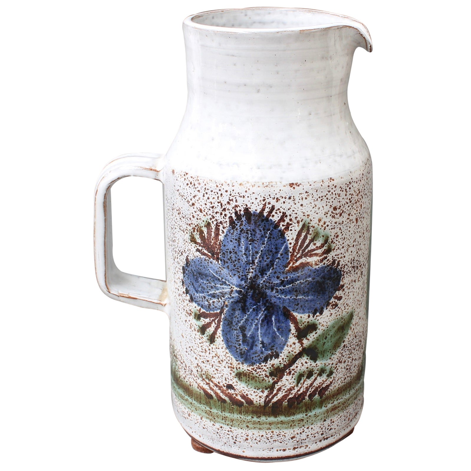 Vintage French Ceramic Pitcher by Michel Barbier, circa 1960s