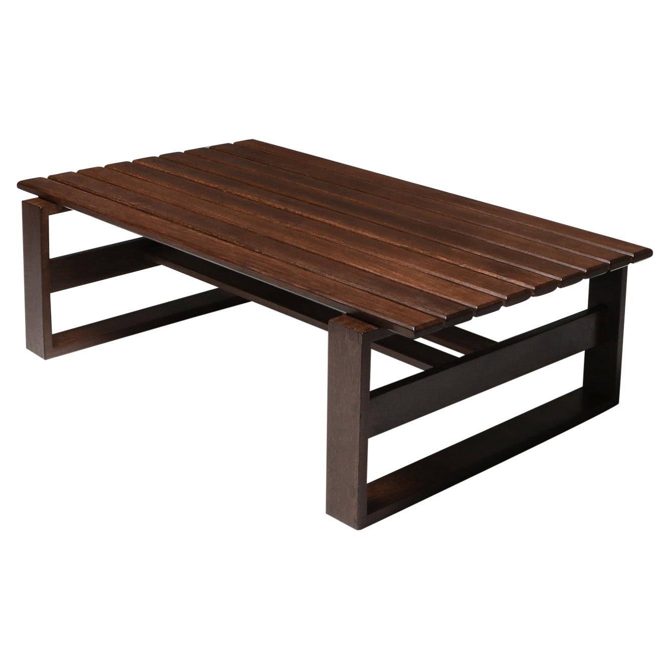 Wengé Slatted Bench or Coffee Table