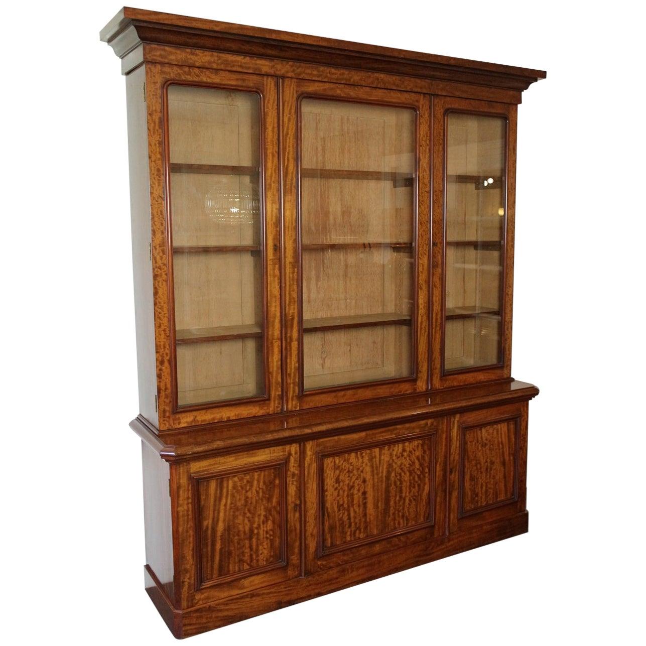 19th Century Victorian 6 Door Mahogany Bookcase