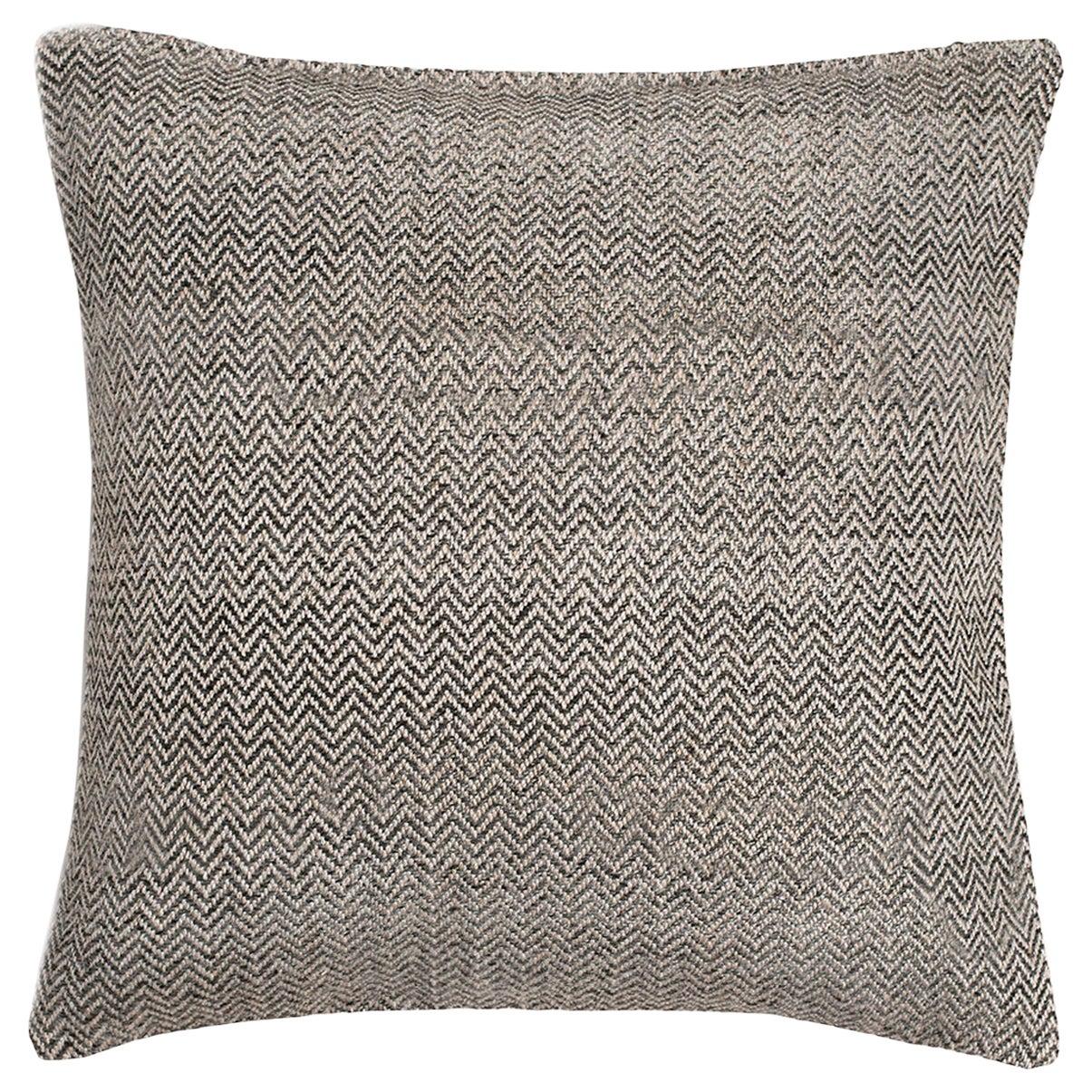 "Ben Soleimani Chevron Pillow - Graphite 26""x26"""