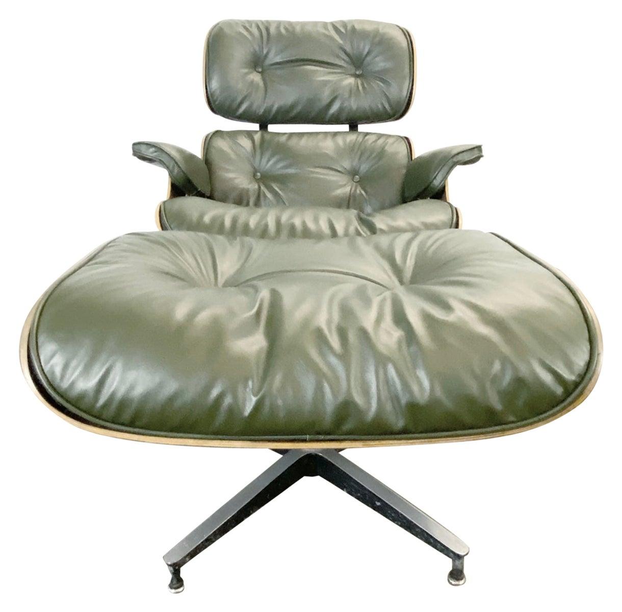 Gorgeous Avocado Eames Lounge Chair and Ottoman