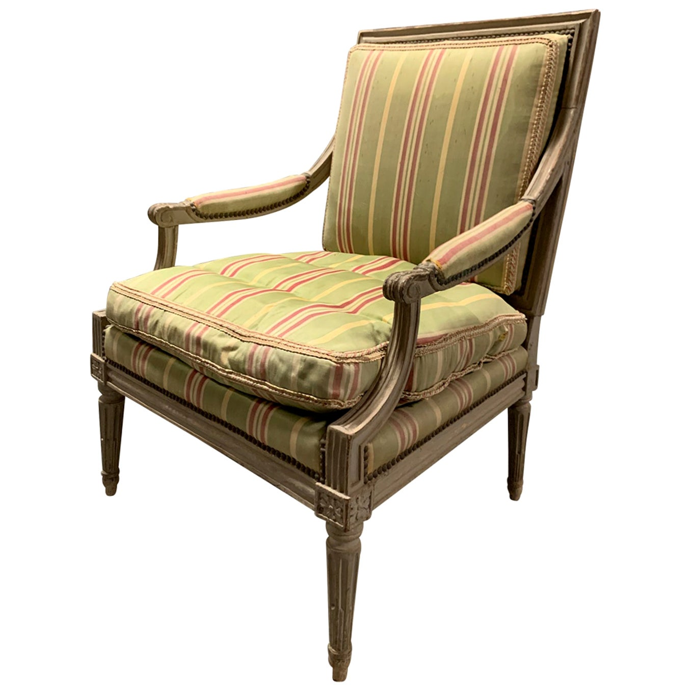 18th-19th Century Painted Louis XVI Style Armchair