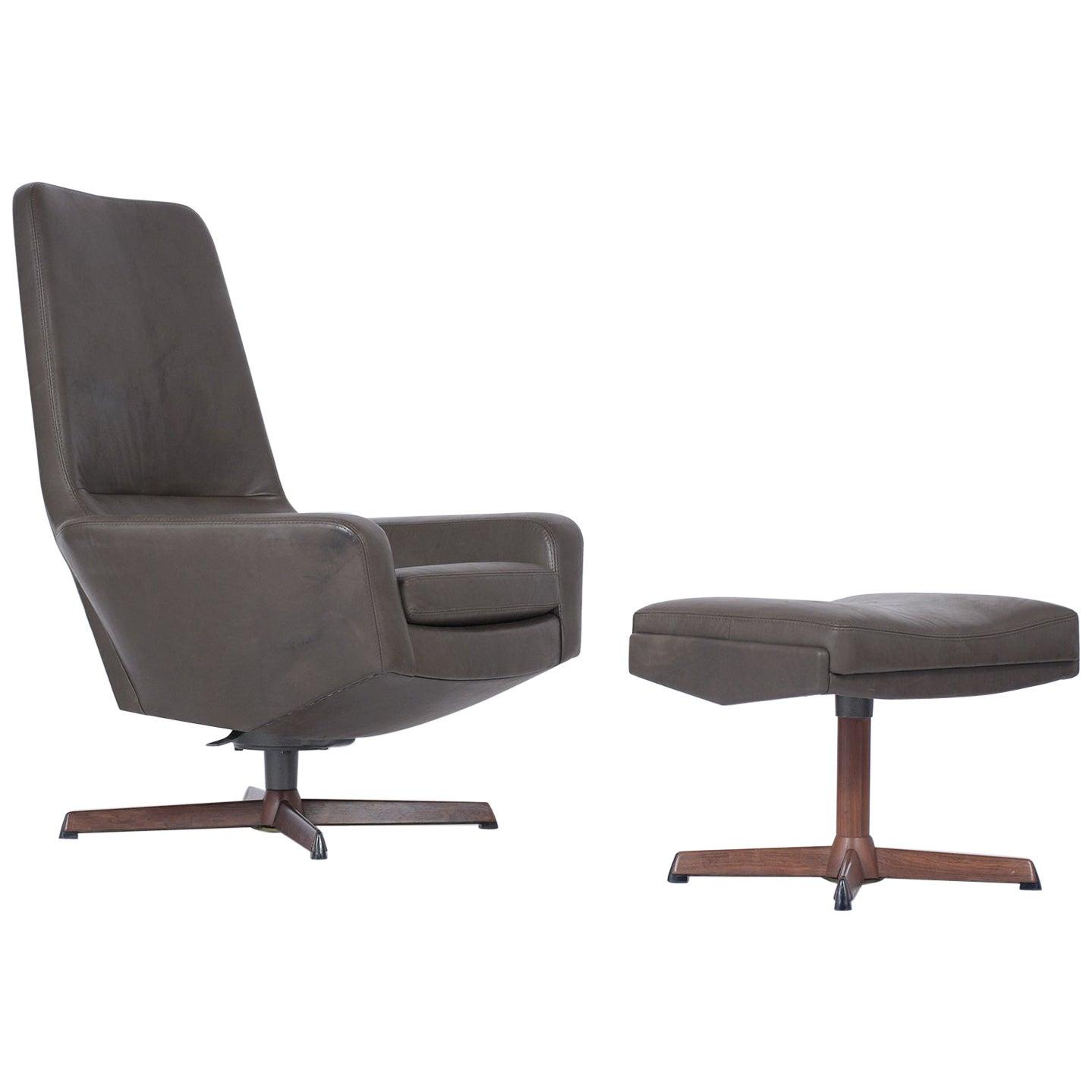 Kofod Larsen Lounge Chair and Ottoman