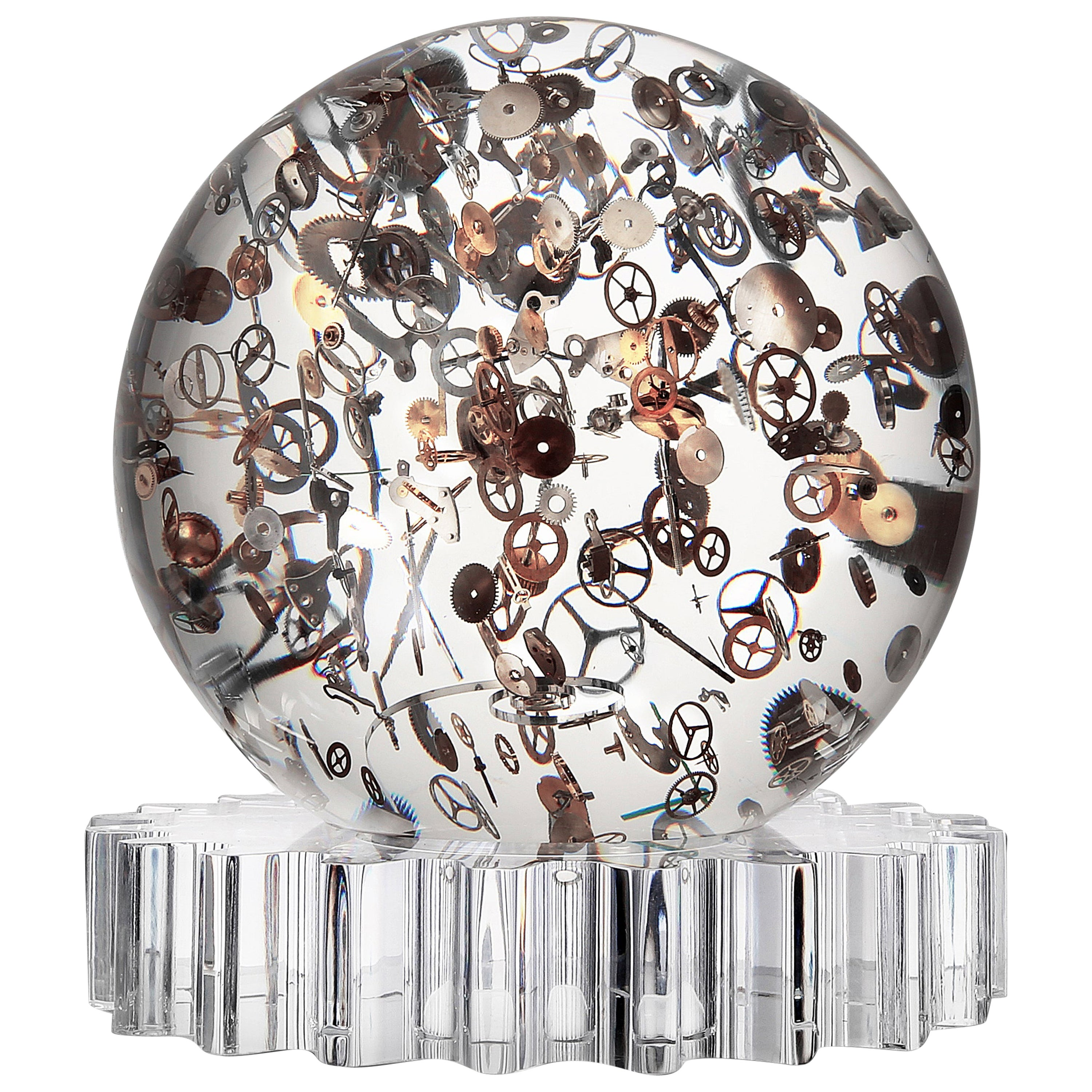 """Berd Vay'e Limited Edition """"Horosphere"""" Lucite Sculpture 'Small'"""